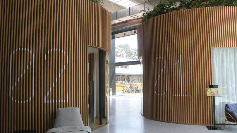 auditório da sede do mercado livre em Osasco, em São Paulo