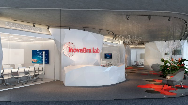 sala de entrada do espaço InovaBra do Bradesco