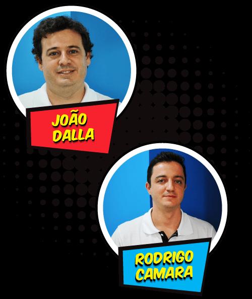 Imagem do ícones do João Dalla e do Rodrigo Camara