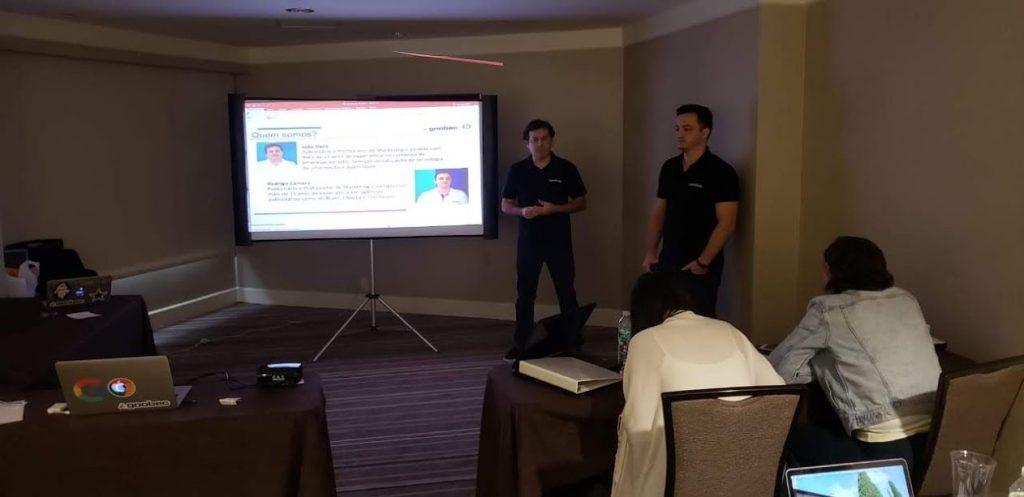 João Dalla e Rodrigo Camara no evento Healthers em Orlando, Estados Unidos.