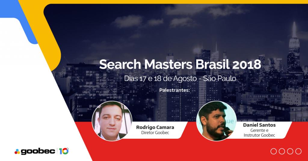 convite do evento Search Masters Brasil com a foto do Rodrigo Camara e Daniel Santos da equipe Goobec