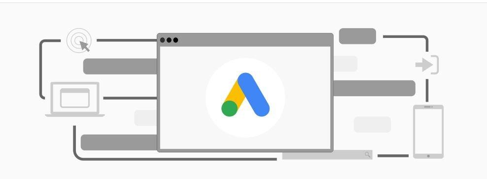 conheça as relações das provas do google partners. A imagem traz o ícone do google ads. ele tem o formato triangular. à esquerda há uma bolinha na cor verde. Há dois peças no formato em V investido que traz na cor amarela e azul.
