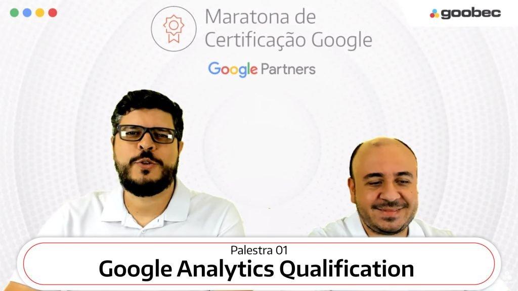 Na foto imagem dos professores Daniel Santos (à esquerda) e Eduardo Leite (à direita) durante a Maratona Google by Goobec.