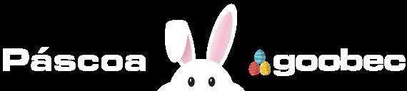 Imagem illustrando um coelho segurando o voucher de Desconto na Páscoa da Goobec