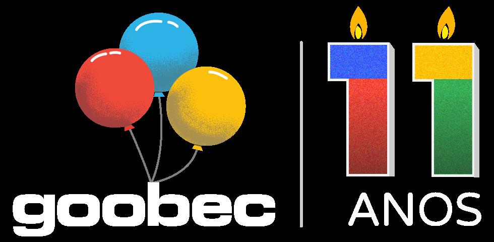 Imagem ilustrando o logo de 11 anos da Goobec