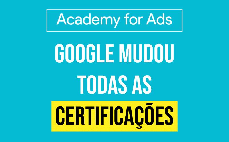 Google alterou as provas de certificação