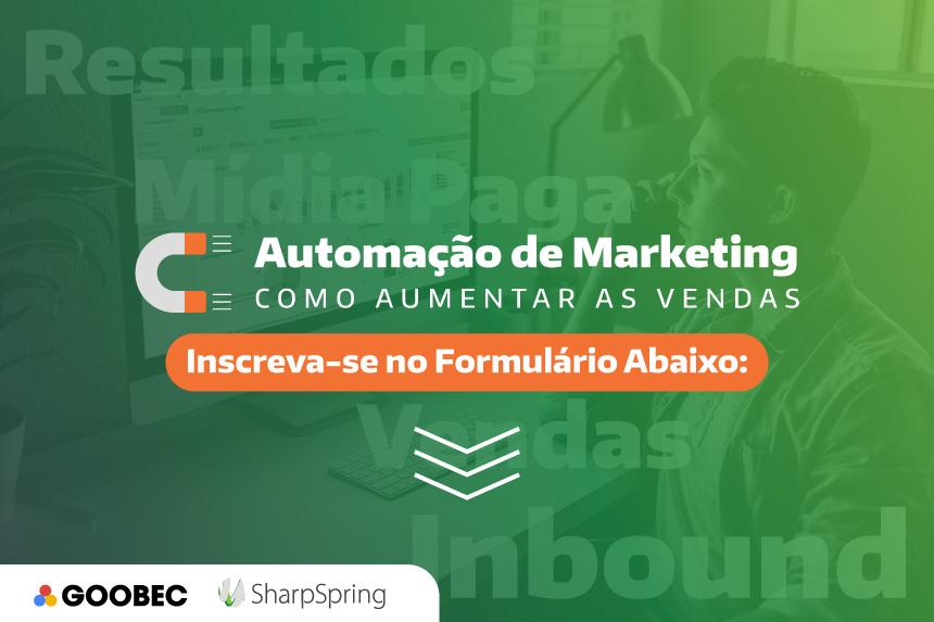 banner com fundo em verde e a chamada: inscreva-se no formulário abaixo para receber o link da live de inbound marketing