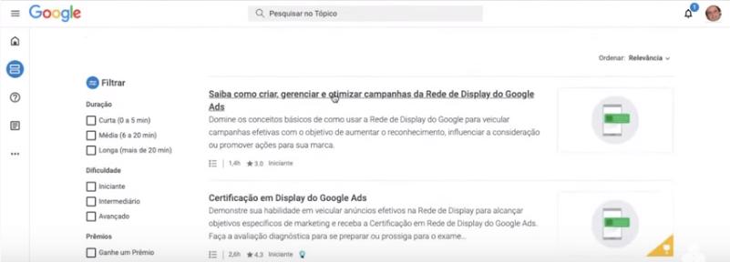 Parte 4 do  Passo a passo para deixar publico seu perfil no skillshop do Google.