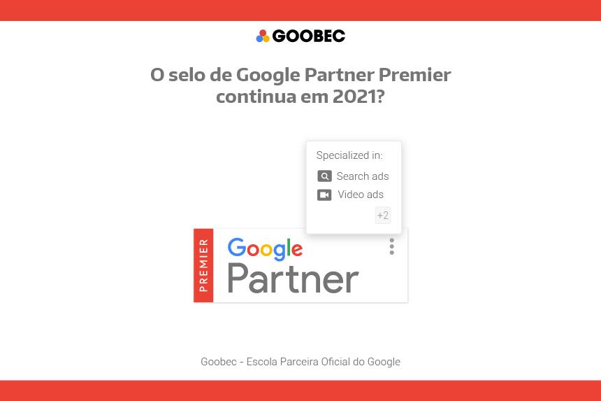 emblema do Google Partner Premier, o selo vermelho do Google