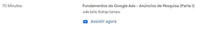 Aula do Google Academy sobre Google Ads