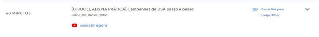 Aula Gravada de DSA com João Dalla e Daniel Santos