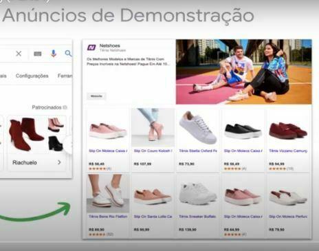 Anúncios de Demonstração no Google Shopping