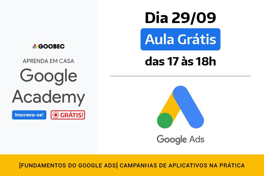 Curso grátis de Google Ads para Aplicativos