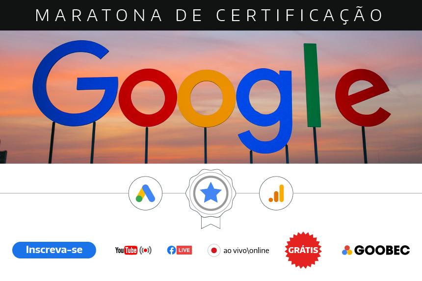 Grátis Maratona Google de Certificação Google em Janeiro
